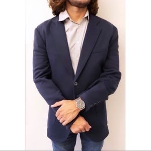 Brooks Brothers Blue Two-Button Sports Jacket